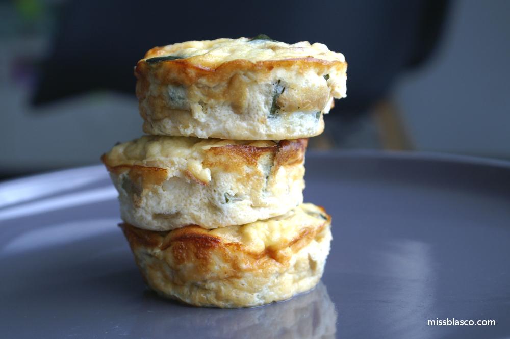 muffins salados de huevo y verduras