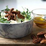 ensalada roquefort y pera con nueces