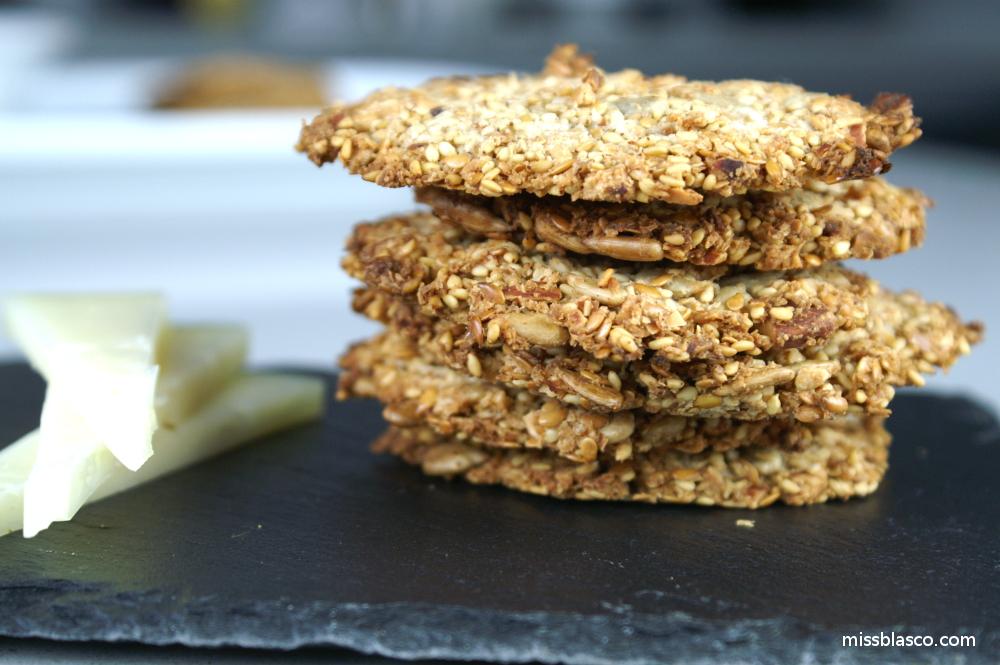 Galletas saladas de semillas sin harina