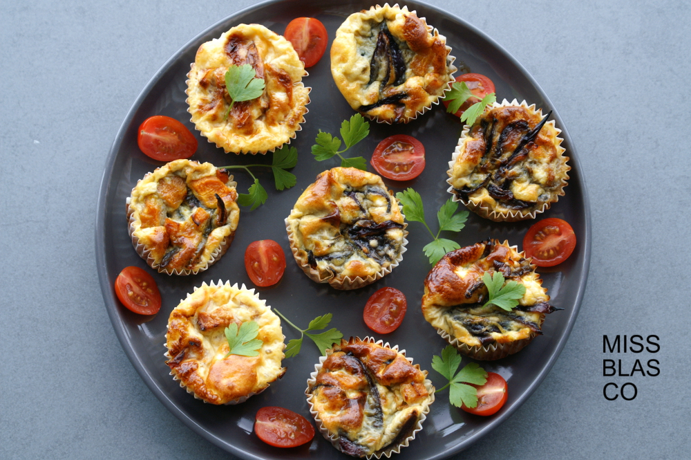 Muffins salados de huevo y verduras sin harina