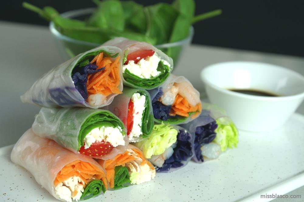 Rollitos vietnamitas con papel de arroz