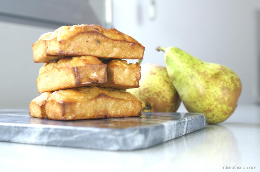 Bizcochitos de pera y almendra sin azúcar