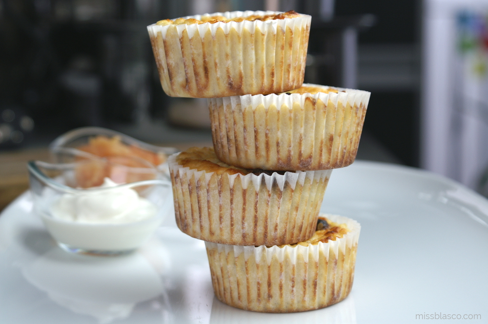 Muffins de manzana y almendra