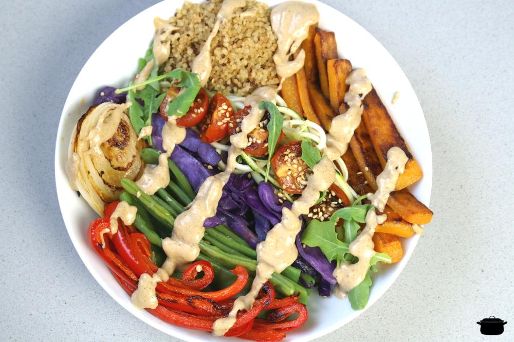 Como preparar un «rainbow bowl» fácil