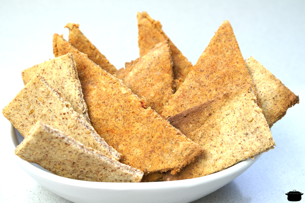 crackers de okara de almendras