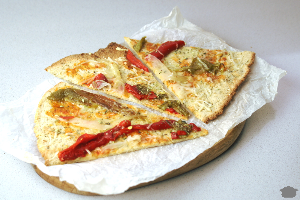 Pizza de coliflor paleo sin harina
