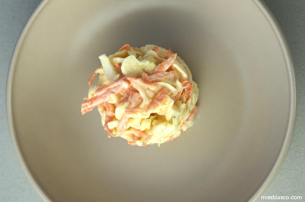 coleslaw sin azúcar
