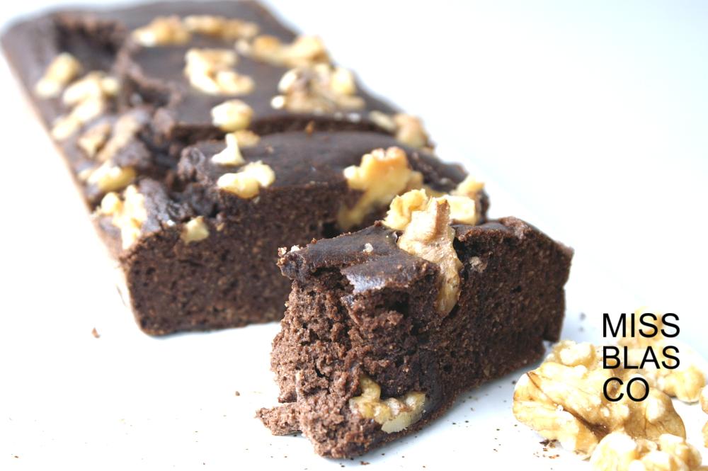 Brownie de cacao con azúcar de coco