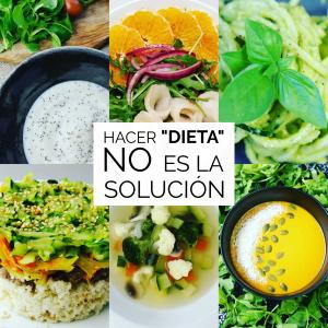 Hacer dieta no es la solución
