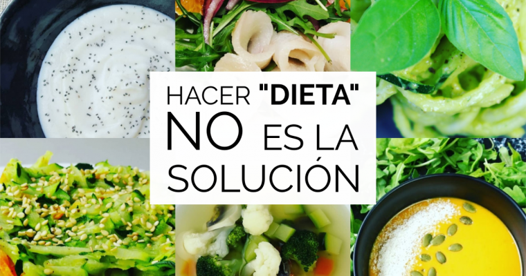 Dieting is not the solution