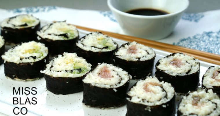MAKI ROLLS WITH CAULIFLOWER RICE
