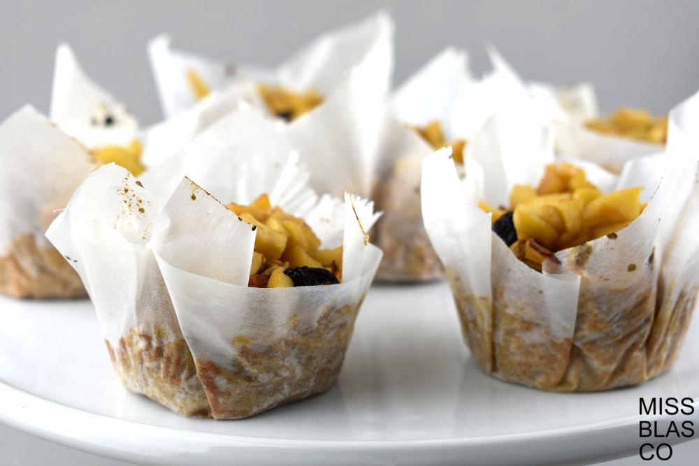 muffin de avena y manzana