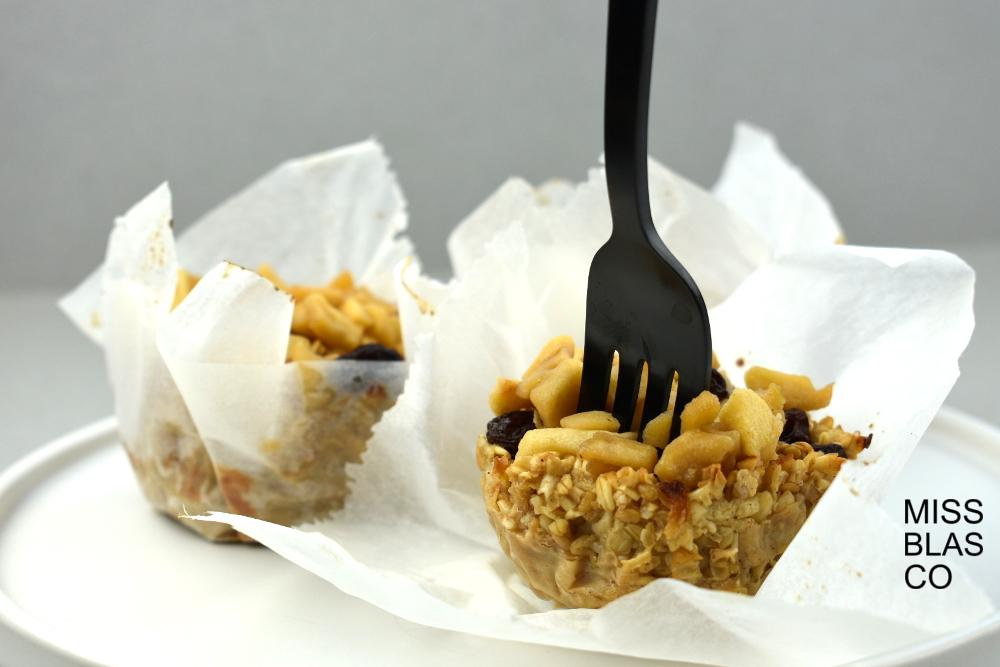 Muffins de avena y manzana sin azúcar
