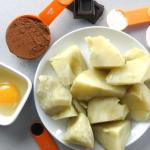 ingredientes brownie boniato