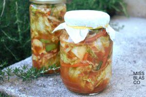 verduras fermentadas