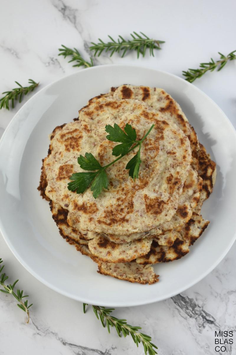 tortillas de kéfir con romero