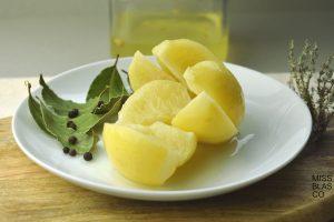 detalle de limones fermentados