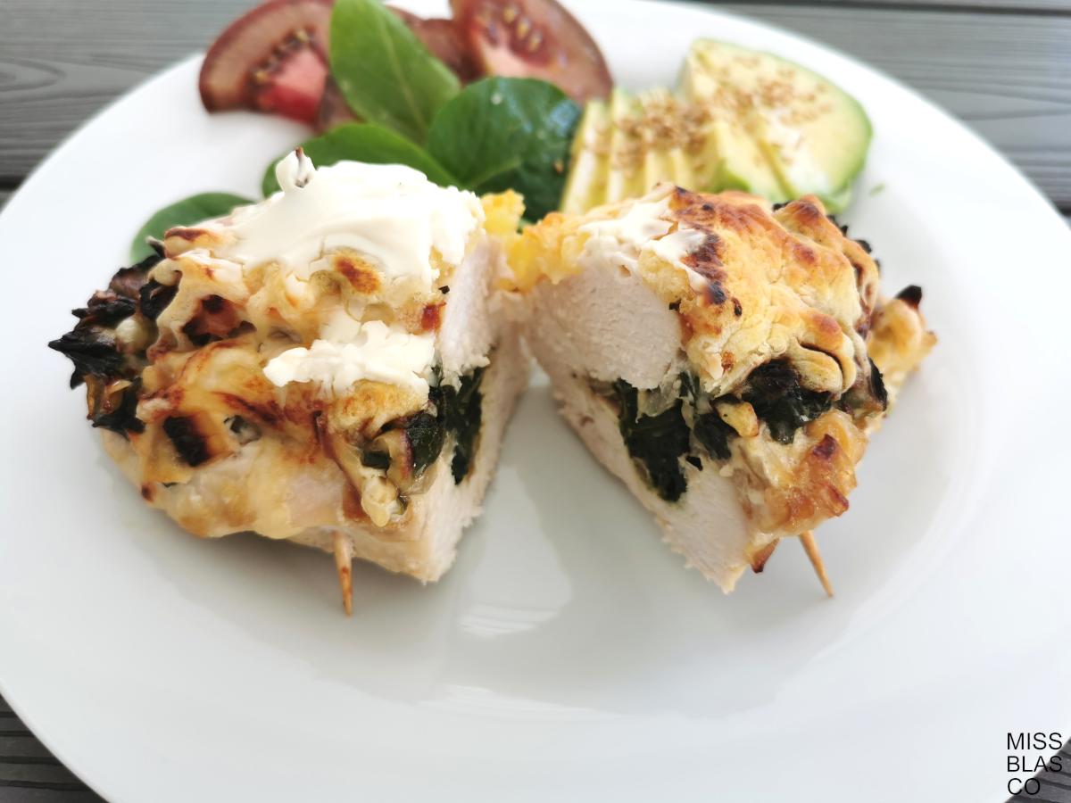 pechugas de pollo rellenas de espinacas