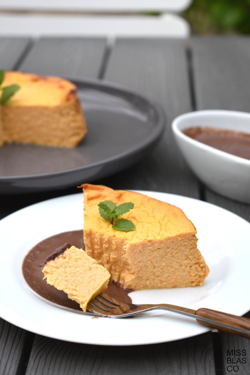 cheesecake de calabaza sin azúcar