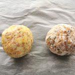 bolas de masa para crackers