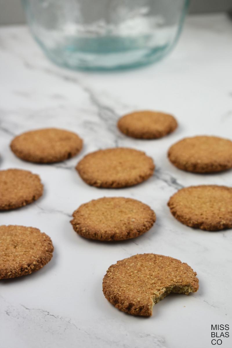 galletas de avena recién hechas
