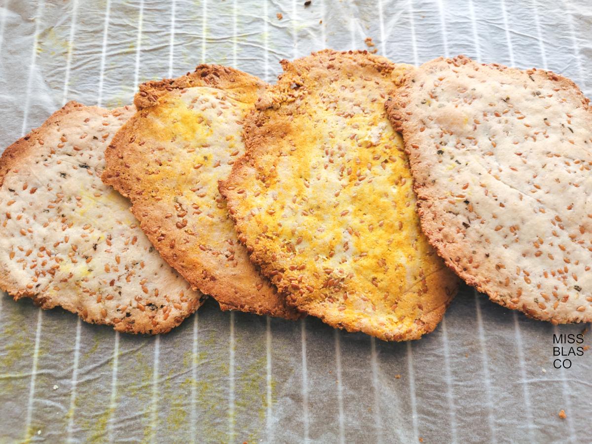 Crackers keto 3 ingredientes