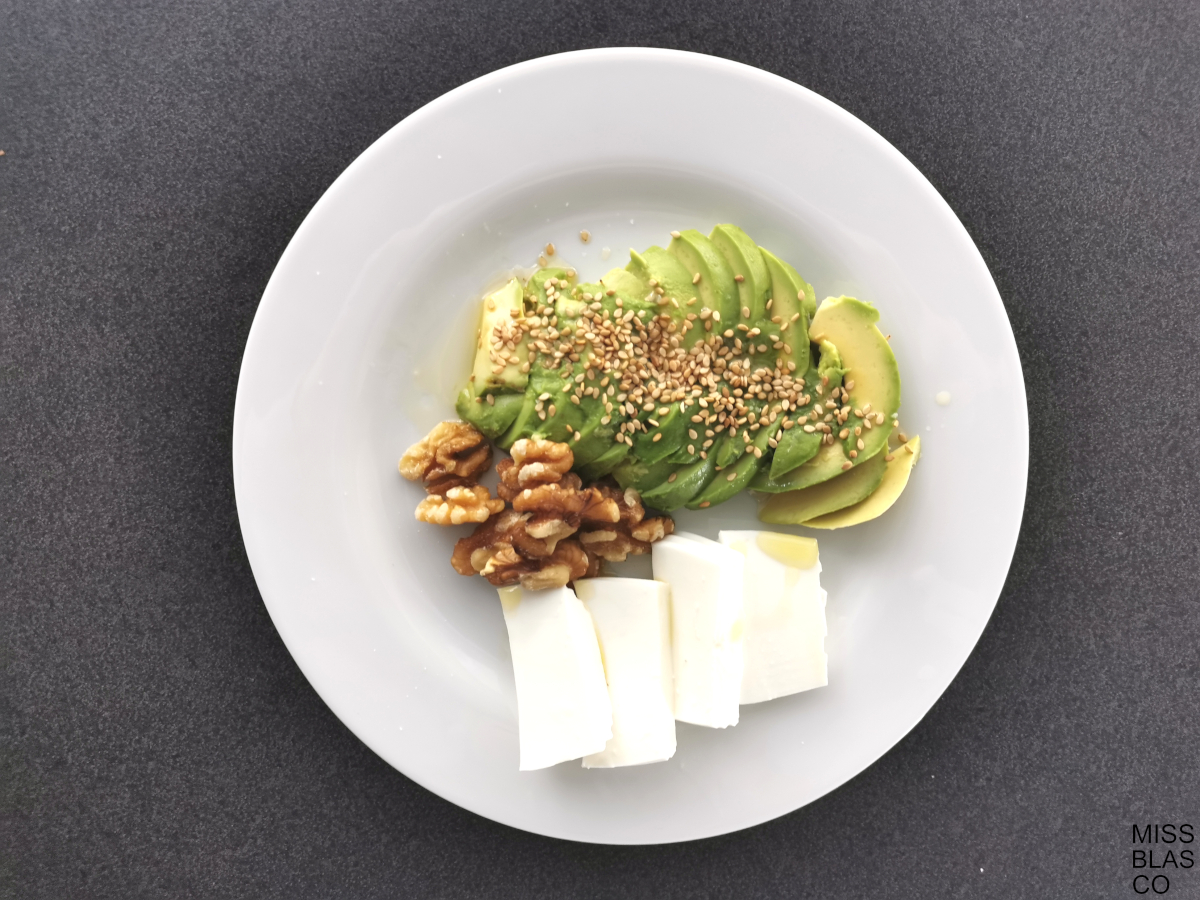 breakfast without bread with avocado