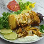 shawarma de pollo en un plato