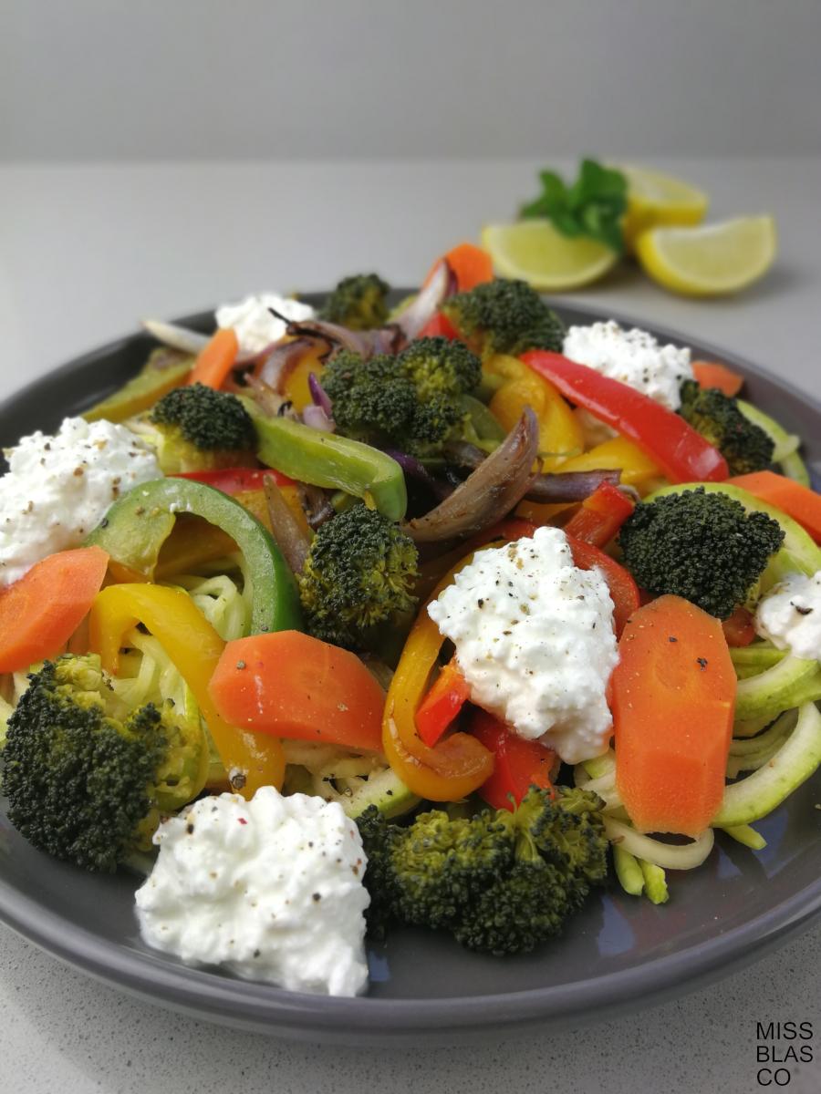 verduras con queso fresco